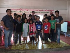 Here we are with David S. at one of their ministries children's homes.  This one is in Myanmar.  They have seven homes  in all. We visited four!