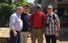 Ron, Jim and I with James S., an indigenous  Cambodian missionary to the people of the slums  of Pnomh Penh and to the villages beyond.