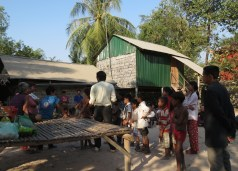 We ministered in this village and shared the Good News  of Jesus.  Some gave their hearts to the Lord Jesus.   James Sann will be returning to minister to them!