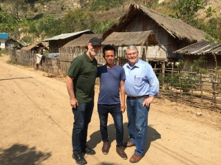 Brian Weller and I with Thai Village Pastor.