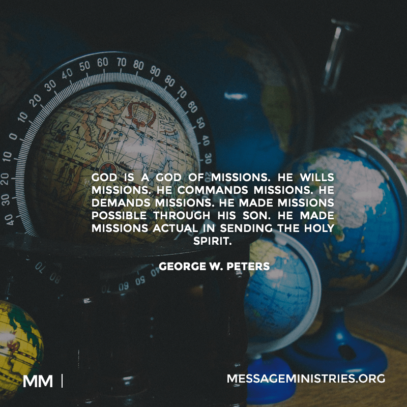 God is a God of Missions