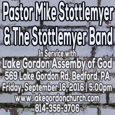 Pastor Mike & The Stottlemyer Band Live in Bedford, PA