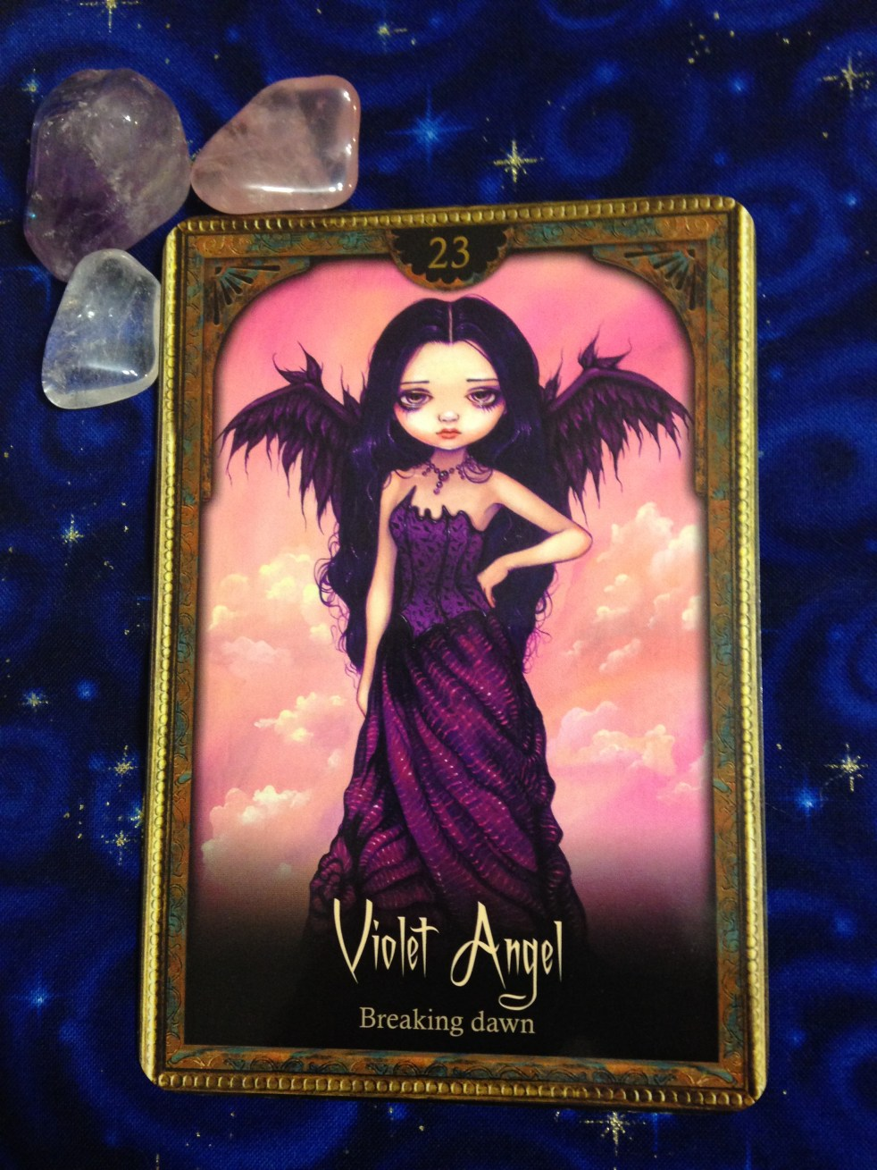 New Moon In Scorpio Violet Angel