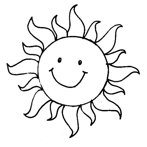 Malvorlage Sonne Mit Strahlen - tippsvorlage