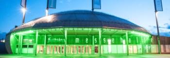 Bau der Messehalle