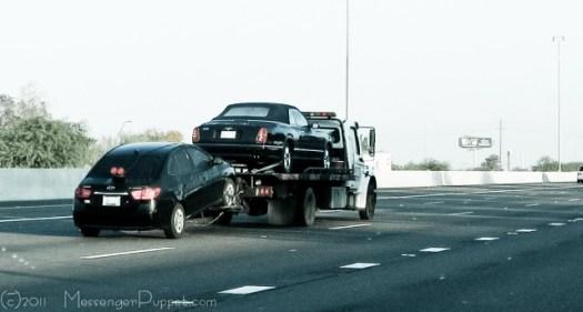 bentley azure tow truck