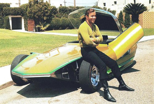 william Shatner captain kirk 1960s car