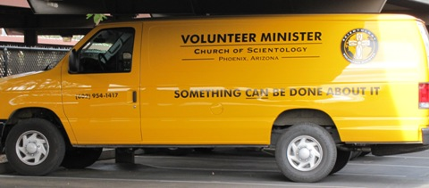 "Scientology van Volunteer Minister ""Something Can Be Done About It"""