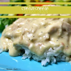 ITALIAN CREAM CHEESE CROCKPOT CHICKEN AND RICE