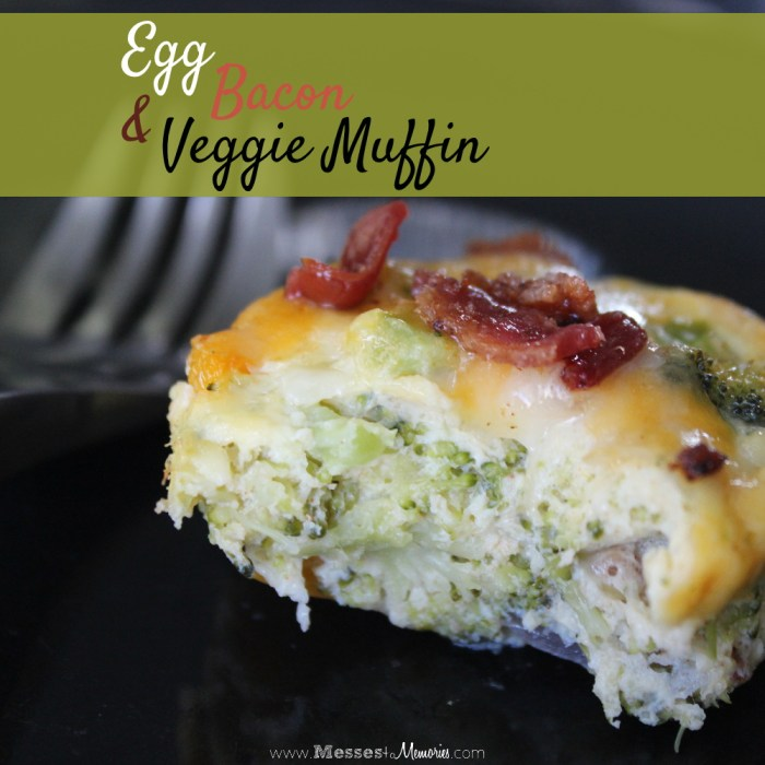 A delicious cheesy breakfast muffins filled with veggies, vitamins and protein from Messes to Memories