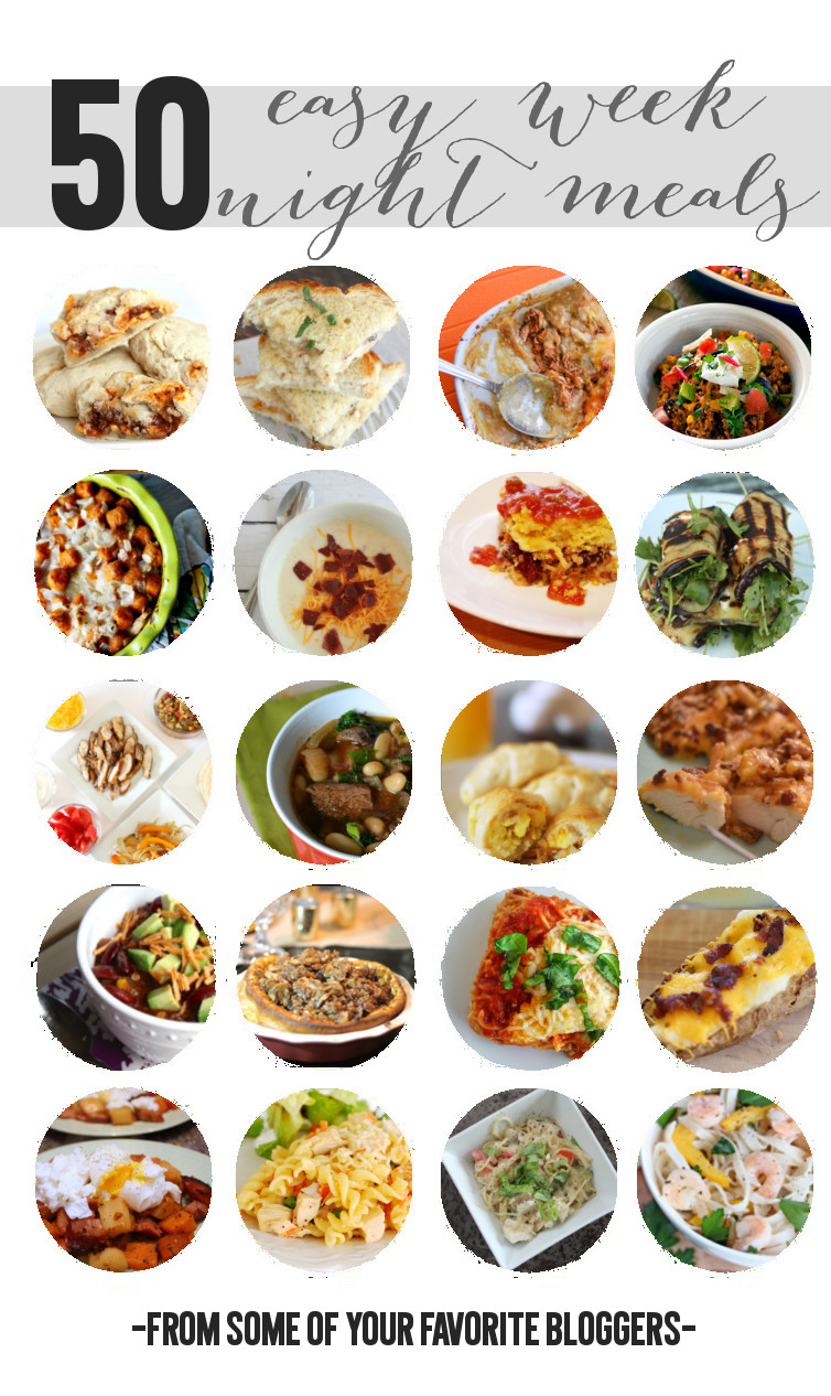 50 Easy Weeknight Meals--families will love them and they come together quick... From Messes to Memories