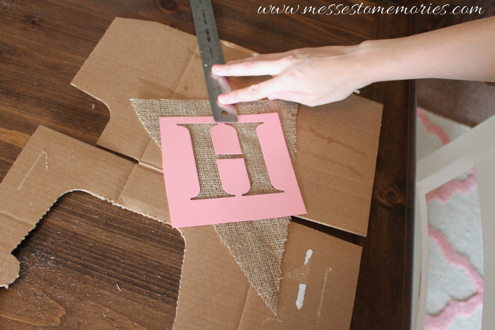 How to make a Burlap Banner from Messes to Memories