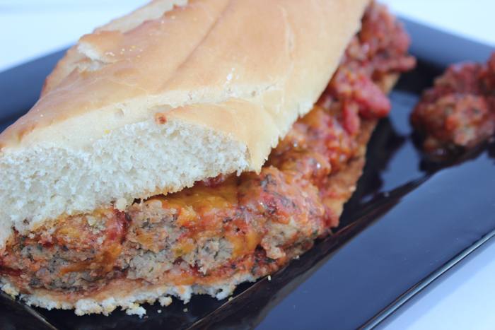Meatball Sub Sandwich from Messes to Memories