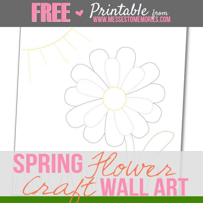 Spring flower craft printable free printable spring flower craft from messes to memories mightylinksfo