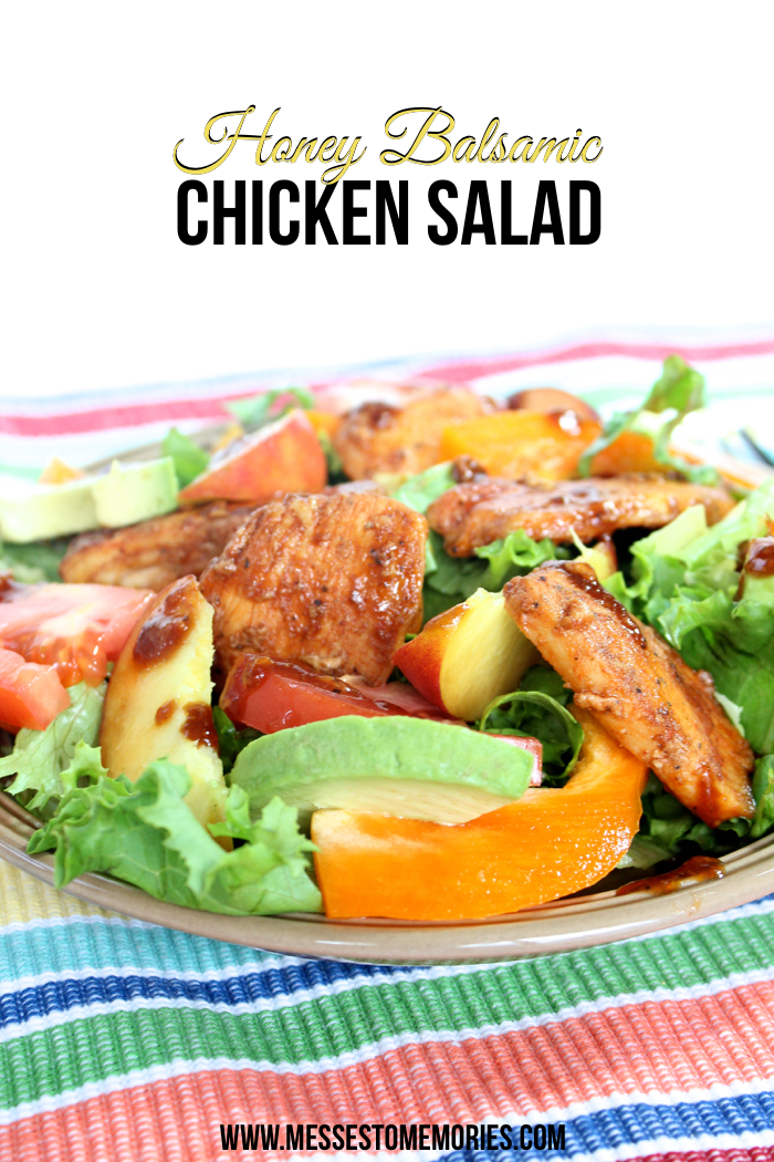 Balsamic Chicken Salad with Peaches from Messes to Memories