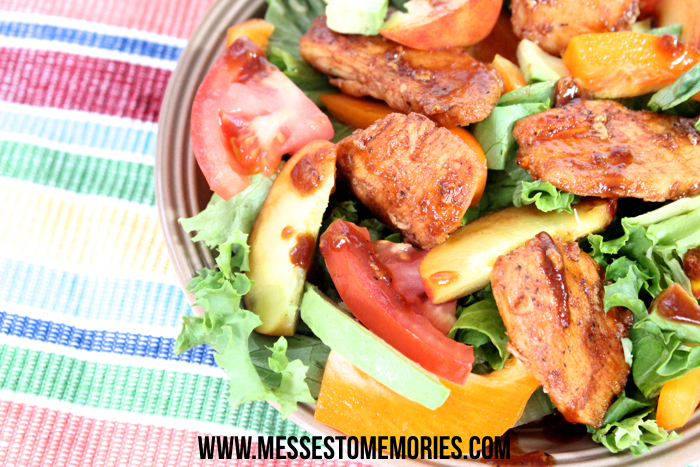 Sweet Balsamic Chicken Salad from Messes to Memories