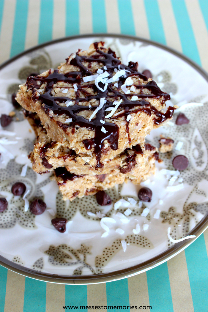 Sweet and Salty Treat: Peanut Butter Coconut Cookie Bars from Messes to Memories