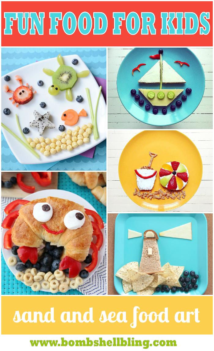 sand and sea food art-bombshell