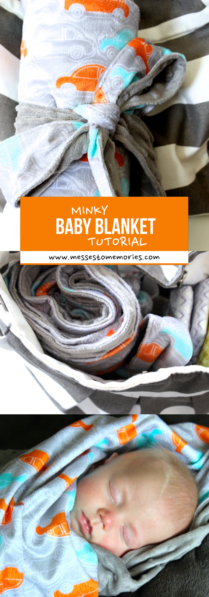 This baby blanket tutorial is the best I've seen! What an adorable and functional blanket!