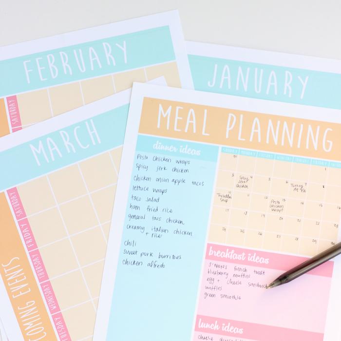 Meal Planning Calendar Printable Messes To Memories