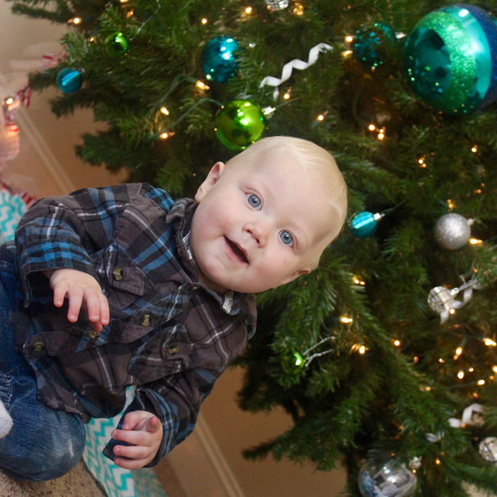 how to protect your christmas tree with a baby in the house