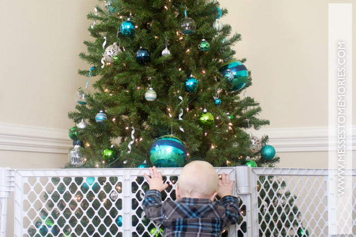 HOW TO PROTECT YOUR CHRISTMAS TREE WITH A BABY IN THE HOUSE ...