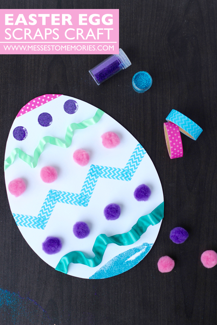 Easter Egg Scrap Craft for the Kids