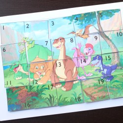 DINOSAUR NUMBER PUZZLE ACTIVITY