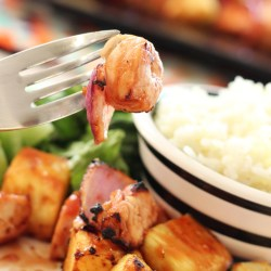 BBQ CHICKEN AND PINEAPPLE KABOBS