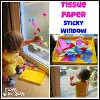Contact Paper Art - Tissue Paper Sticky Window - Mess for Less