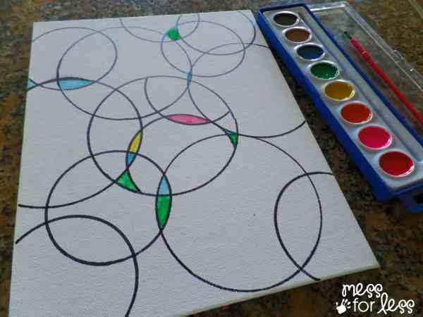 Watercolor Circle Art - Mess