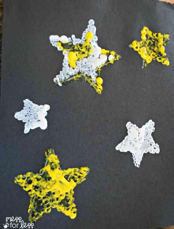 Kids Art Project -tip Star - Mess