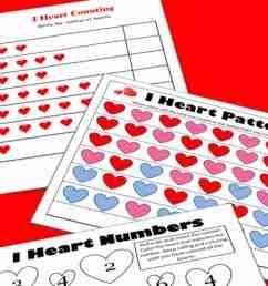 Valentine's Math - Kindergarten Worksheets - Mess for Less [ 1600 x 803 Pixel ]