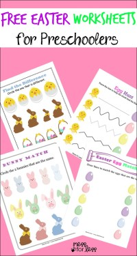 Free Easter Preschool Worksheets - Mess for Less