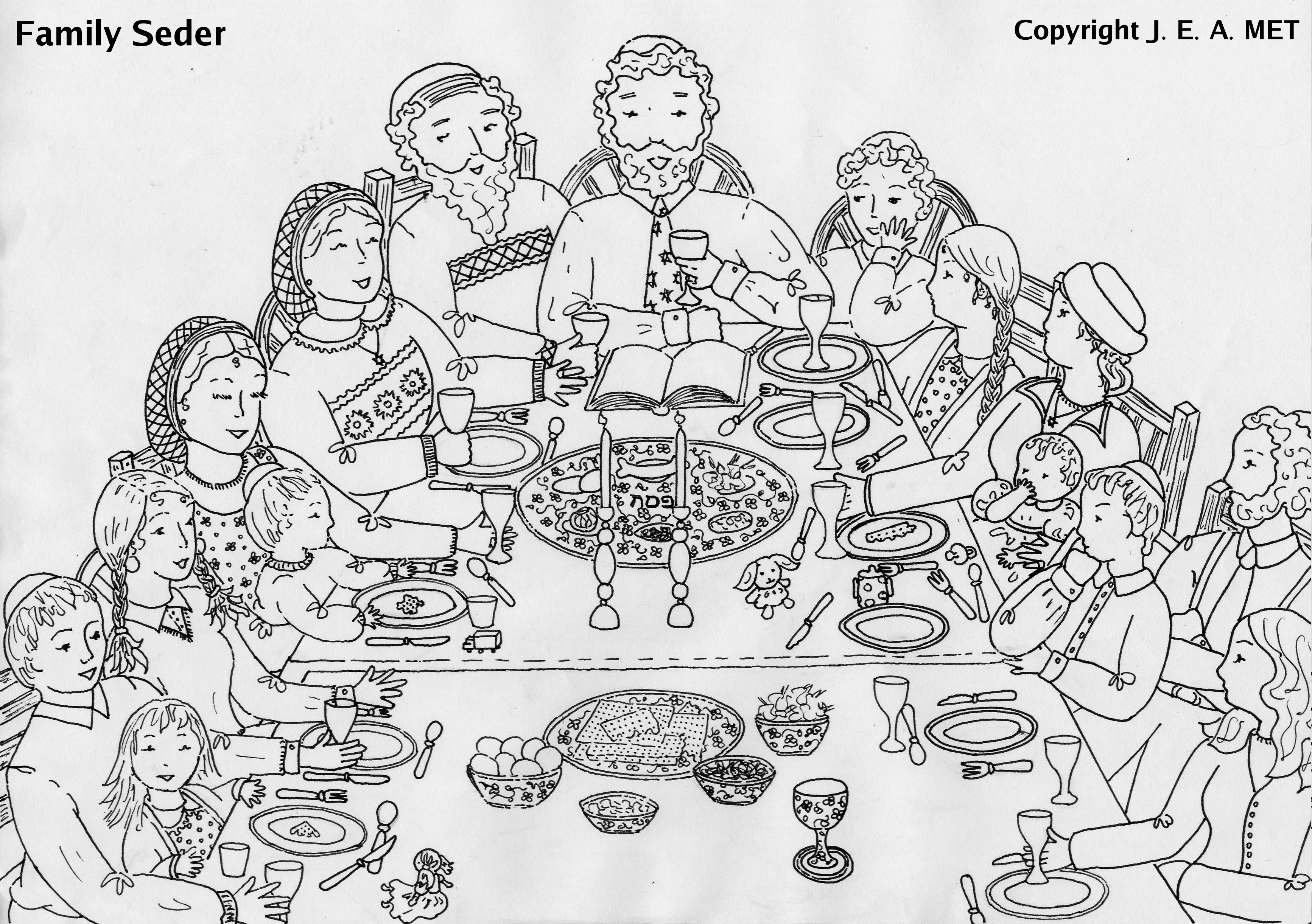 Free coloring pages of passover lamb
