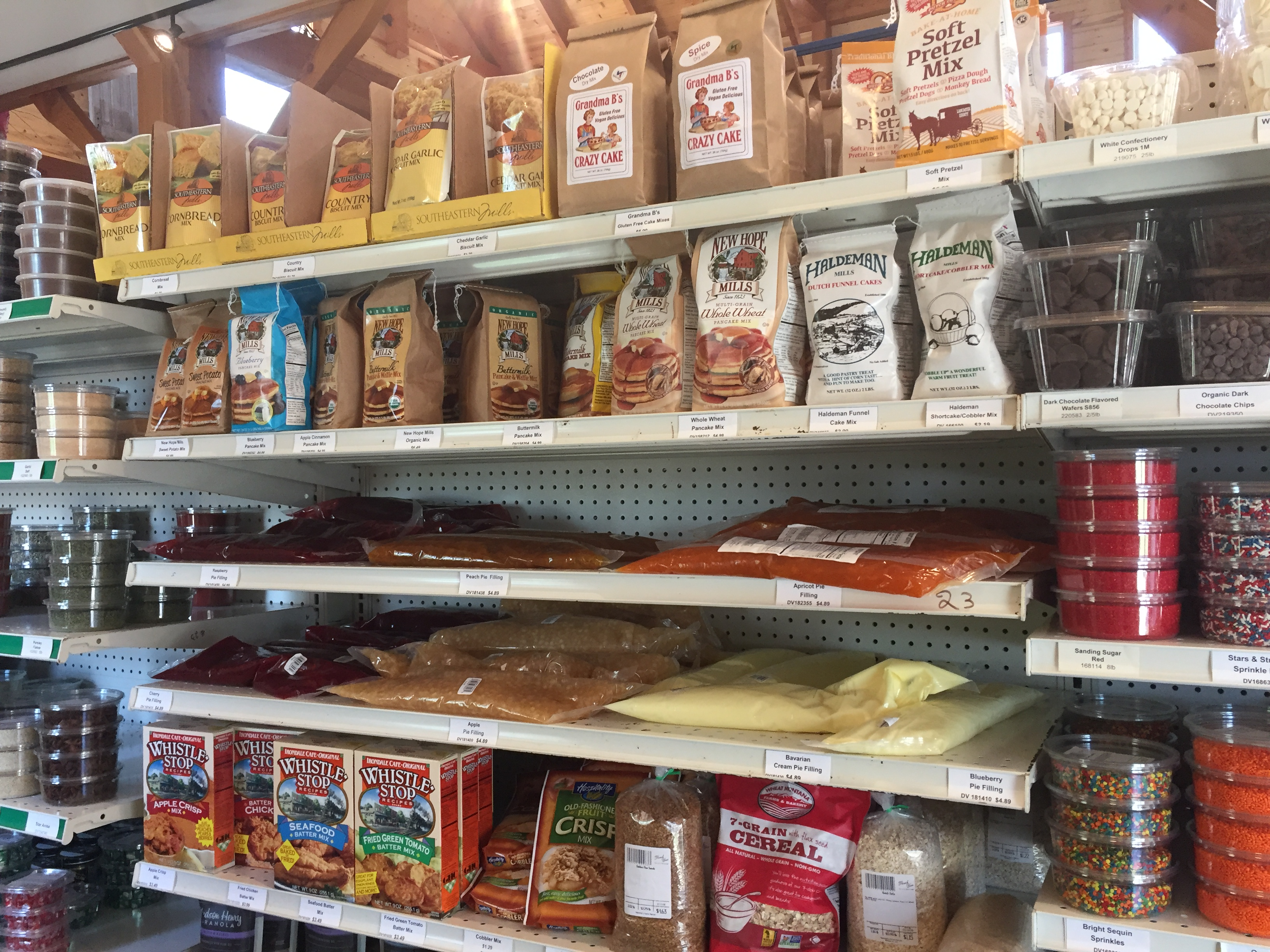 baking and pie filling at messicks farms market with local honey