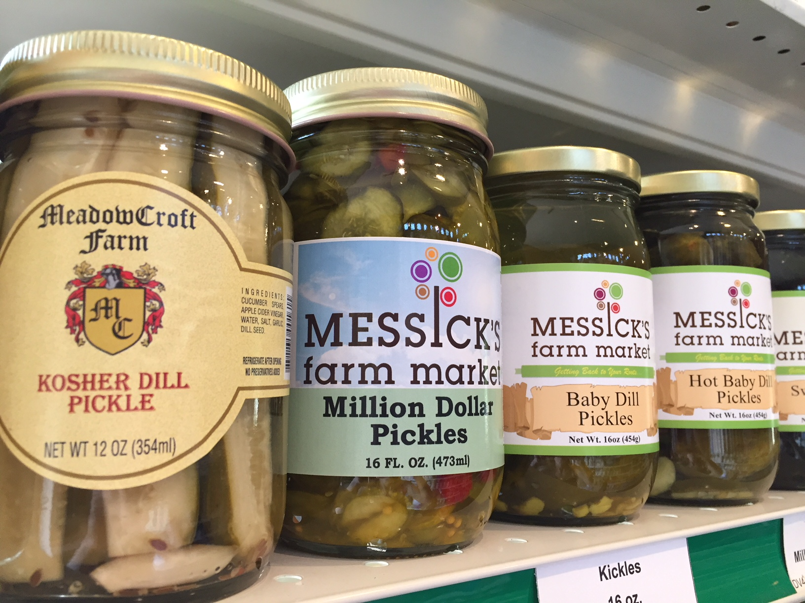 pickles and local honey at Messicks Farm Market