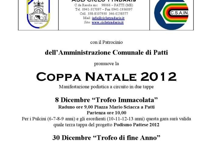 """Al via a Patti la """"Coppa Natale 2012"""""""
