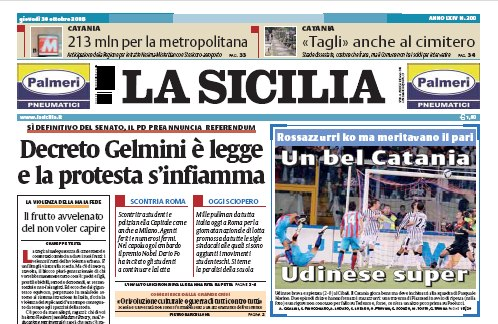 """Una pagina di Atletica sul quotidiano """"La Sicilia"""""""