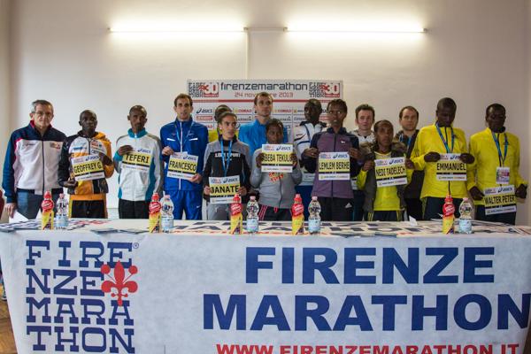 Maratona di Firenze, presentati i top runners