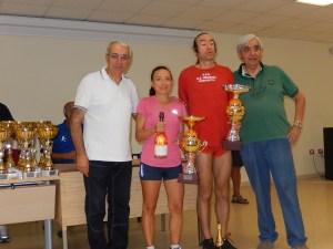 I vincitori Maria Pistone (Forte Gonzaga) e Natale Grosso (Indomita Torregrotta)