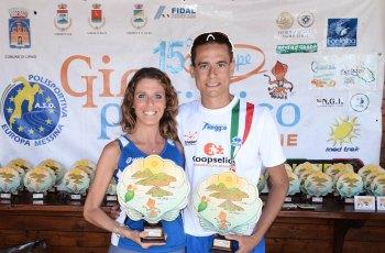 I vincitori del Giro 2015 Francesca Colafati e Salvatore Franzese