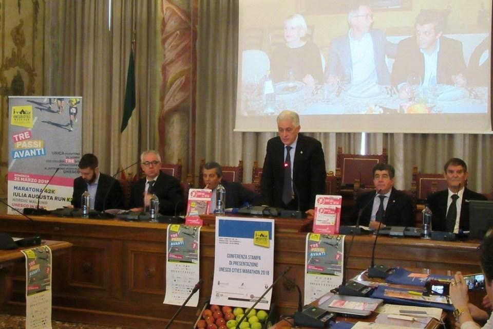 Presentata a Udine l'Unesco Cities Marathon: 21 nazioni al via