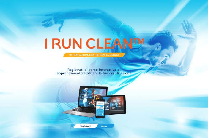 ''I run clean'', il corso online