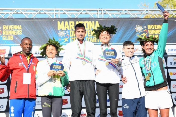 René Cunéaz e Sarah Giomi campioni italiani di Maratona