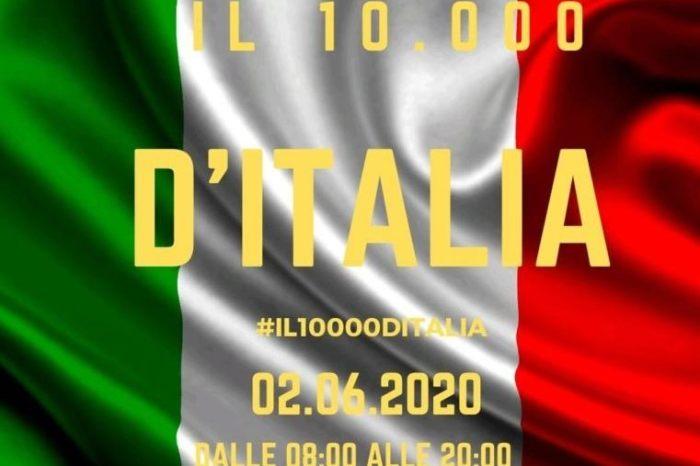 """Il 2 giugno la corsa virtuale """"Il 10.000 d'Italia"""""""