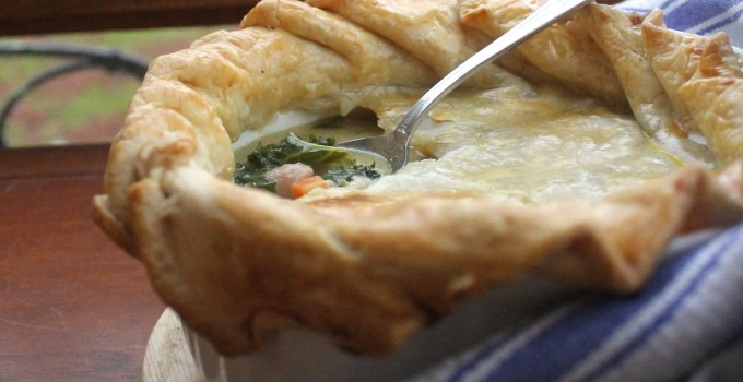 New Year, New Take on an Old Favorite: Greens, Bacon, White Bean Pot Pie
