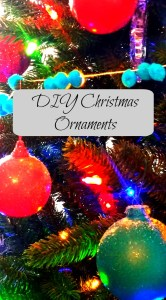 THese DIY Ornaments looks like a million bucks, but little did you know that they were headed to Goodwill before some spray paint and glitter were applied.