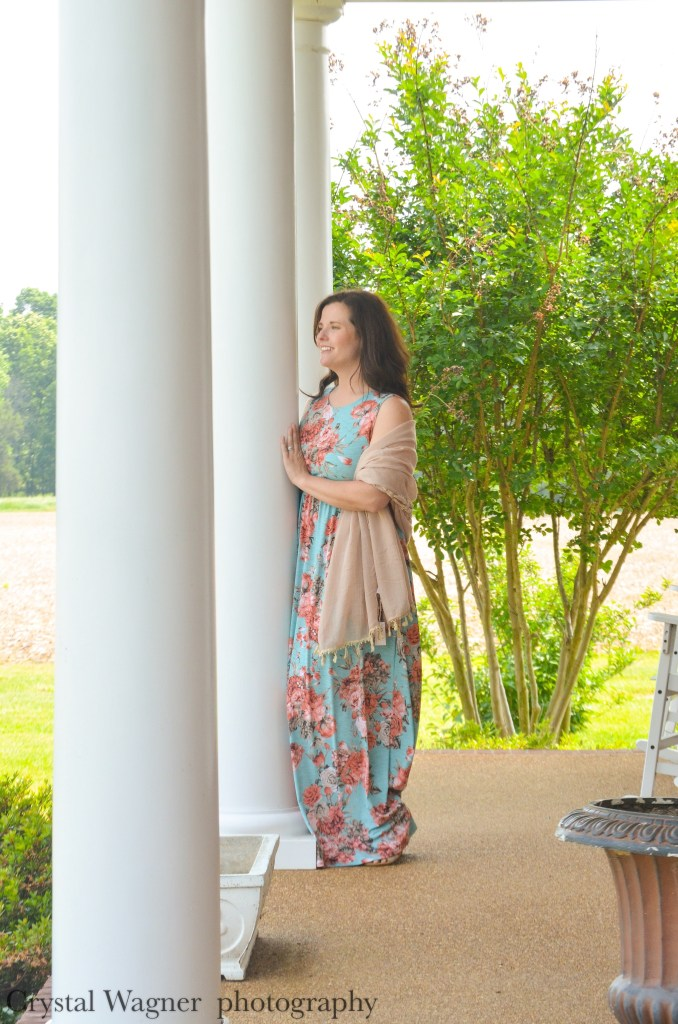 floral maxi dress with wrap