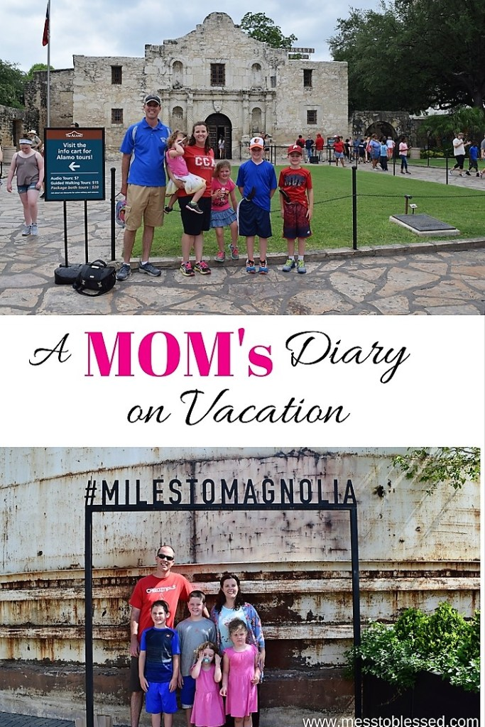 A Mom who kept a diary on vacation with her kids.